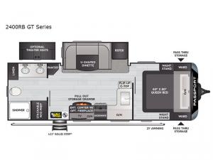Passport 2400RB GT Series Floorplan Image