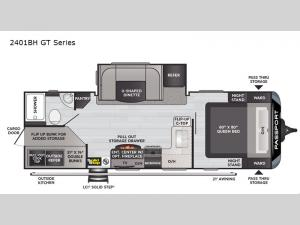 Passport 2401BH GT Series Floorplan Image