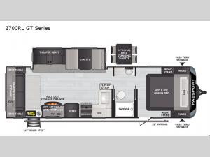 Passport 2700RL GT Series Floorplan Image