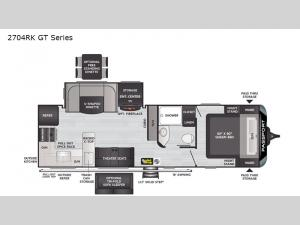 Passport 2704RK GT Series Floorplan Image