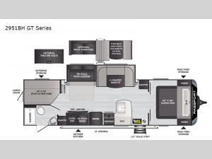 Passport 2951BH GT Series Floorplan Image
