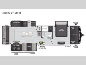 Passport 3200RL GT Series Floorplan Image