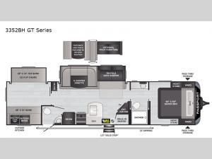 Passport 3352BH GT Series Floorplan Image