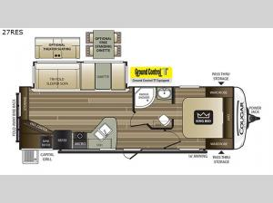 Cougar Half-Ton Series 27RES Floorplan Image