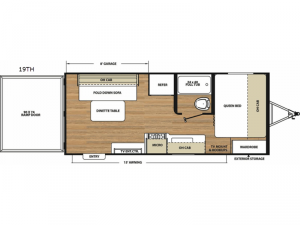 Catalina Trail Blazer 19TH Floorplan Image