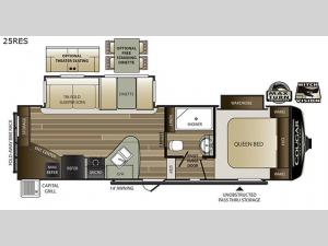 Cougar Half-Ton Series 25RES Floorplan Image
