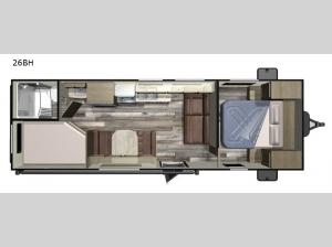 Autumn Ridge Outfitter 26BH Floorplan Image