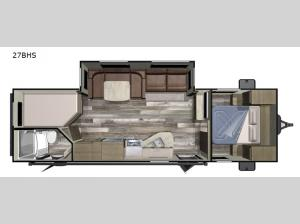 Autumn Ridge Outfitter 27BHS Floorplan Image