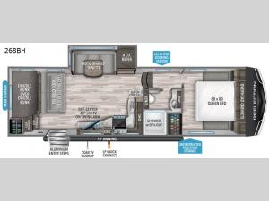 Reflection 150 Series 268BH Floorplan Image
