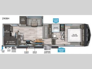 Reflection 150 Series 290BH Floorplan Image