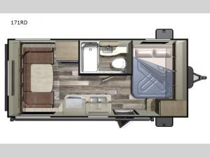 Autumn Ridge Outfitter 171RD Floorplan Image