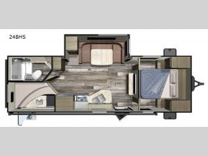 Autumn Ridge Outfitter 24BHS Floorplan Image