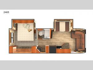 Lance Travel Trailers 2465 Floorplan Image