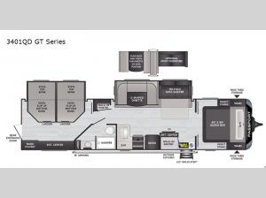 Passport 3401QD GT Series Floorplan Image