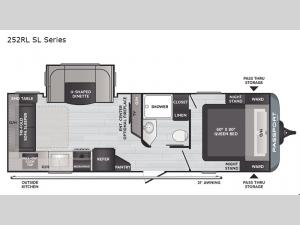 Passport 252RL SL Series Floorplan Image