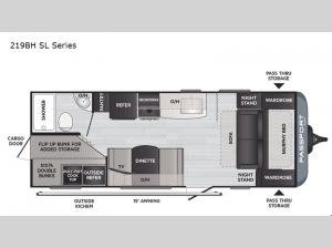 Passport 219BH SL Series Floorplan Image