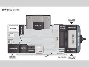 Passport 189RB SL Series Floorplan Image
