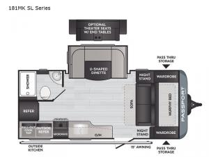 Passport 181MK SL Series Floorplan Image