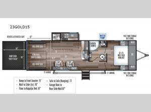 Cherokee Wolf Pack Gold 23GOLD15 Floorplan Image