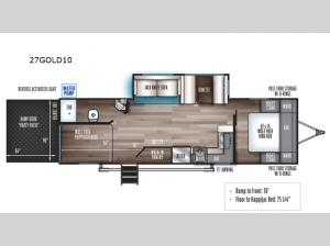 Cherokee Wolf Pack Gold 27GOLD10 Floorplan Image