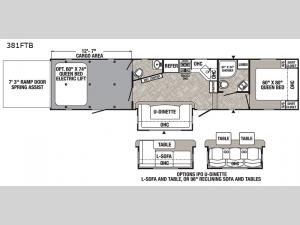 Puma Unleashed 381FTB Floorplan Image