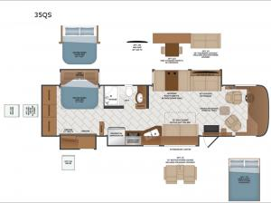 Pace Arrow 35QS Floorplan Image