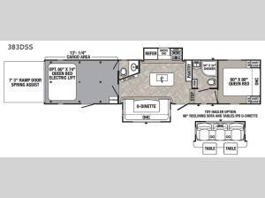 Puma Unleashed 383DSS Floorplan Image