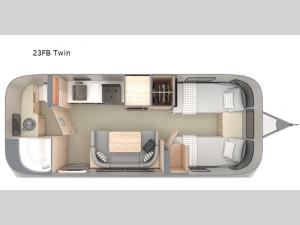 Globetrotter 23FB Twin Floorplan Image