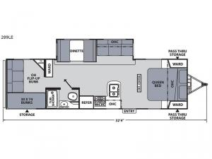 Apex Ultra-Lite 289LE Floorplan Image