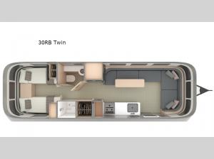 Globetrotter 30RB Twin Floorplan Image