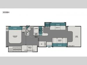 Leprechaun 300BH Ford 450 Floorplan Image