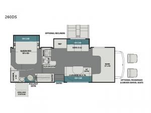 Leprechaun 260DS Chevy 4500 Floorplan Image