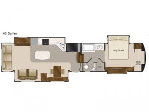 Elite Suites 43 Dallas Floorplan Image