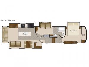 Elite Suites 44 Cumberland Floorplan Image