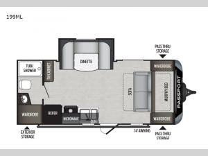 Passport 199ML SL Series Floorplan Image