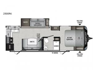 Passport 2500RK GT Series Floorplan Image