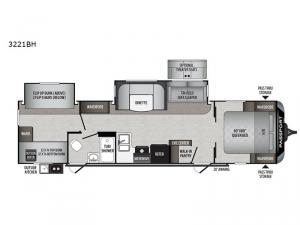 Passport 3221BH GT Series Floorplan Image