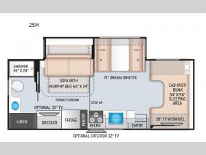 Chateau 25M Chevy Floorplan Image