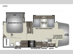 Prism Elite 24DS Floorplan Image
