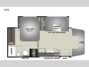 Prism Elite 24FS Floorplan Image