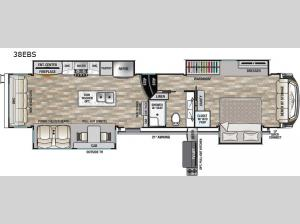 Cedar Creek Champagne Edition 38EBS Floorplan Image