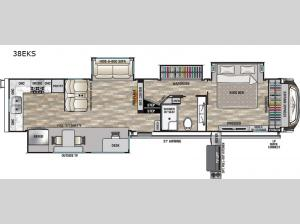 Cedar Creek Champagne Edition 38EKS Floorplan Image