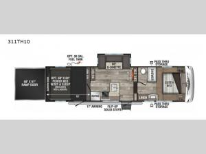 Sportster 311TH10 Floorplan Image