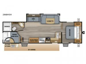 Jay Flight SLX Western Edition 286BHSW Floorplan Image