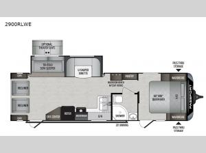 Passport 2900RLWE GT Series Floorplan Image