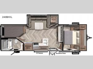 Salem Cruise Lite 240BHXL Floorplan Image