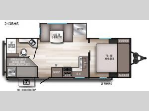 SolAire Ultra Lite 243BHS Floorplan Image