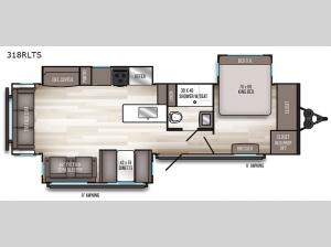 SolAire Ultra Lite 318RLTS Floorplan Image