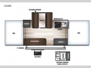 Rockwood Freedom Series 2318G Floorplan Image