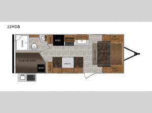 Tracer Breeze 22MDB Floorplan Image